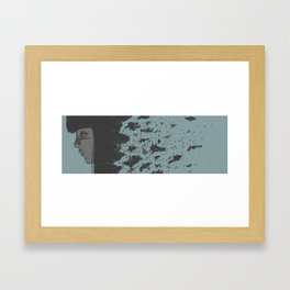 glass of wine Framed Art Print
