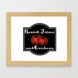 Benoit Farms and Gardens Framed Art Print