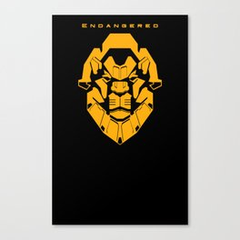 Endangered: Lion Canvas Print