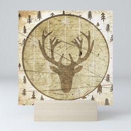 Vintage deer Mini Art Print