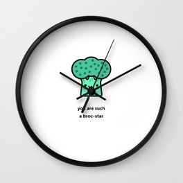 JUST A PUNNY BROCCOLI JOKE! Wall Clock