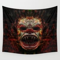 demon Wall Tapestries featuring Demon by Zandonai