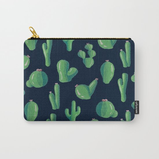 Green Cactus at Night Carry-All Pouch