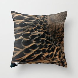 like snow off a duck's back Throw Pillow