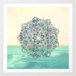 Mandala Mermaid Oceana Art Print