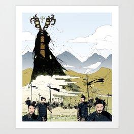 Eldritch Princesses: Mulan Art Print