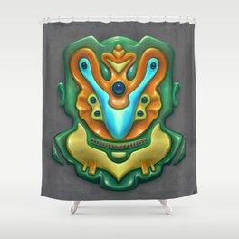 Summer Totem Green Shower Curtain