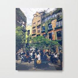 London's Cheerful Alley. Metal Print
