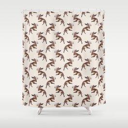 Brown Jackalope Shower Curtain