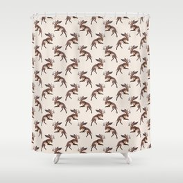 Brown Jackalope Shower Curtain