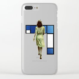 Woman In The City Clear iPhone Case