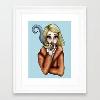 tenenbaum Framed Art Prints featuring Margo Tenenbaum by Hungry Designs