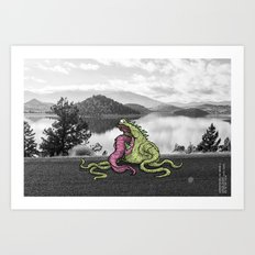 Unseen Monsters of Mount Shasta - Lipstisk Williwop Art Print