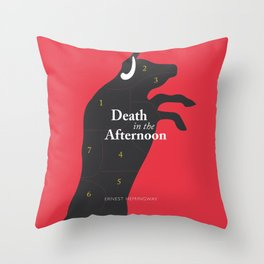 Ernest Hemingway book cover & Poster, Death in the Afternoon, bullfighting stories Throw Pillow