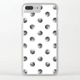 Lunar Moon - white Clear iPhone Case