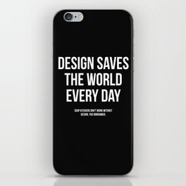 Design Saves iPhone Skin