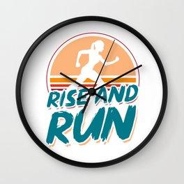 Rise and run - marathon runners, joggers Wall Clock