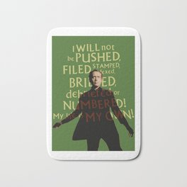 The Prisoner - I Will Not be Pushed Bath Mat
