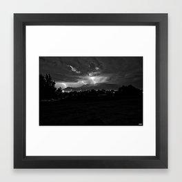 Lightning over the 'Bu..... Framed Art Print