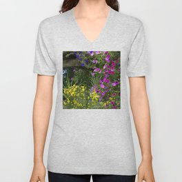 Alaskan Summer Flowers By Secret Pond Unisex V-Neck