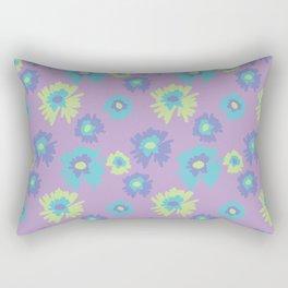 flower pattern/print purple Rectangular Pillow