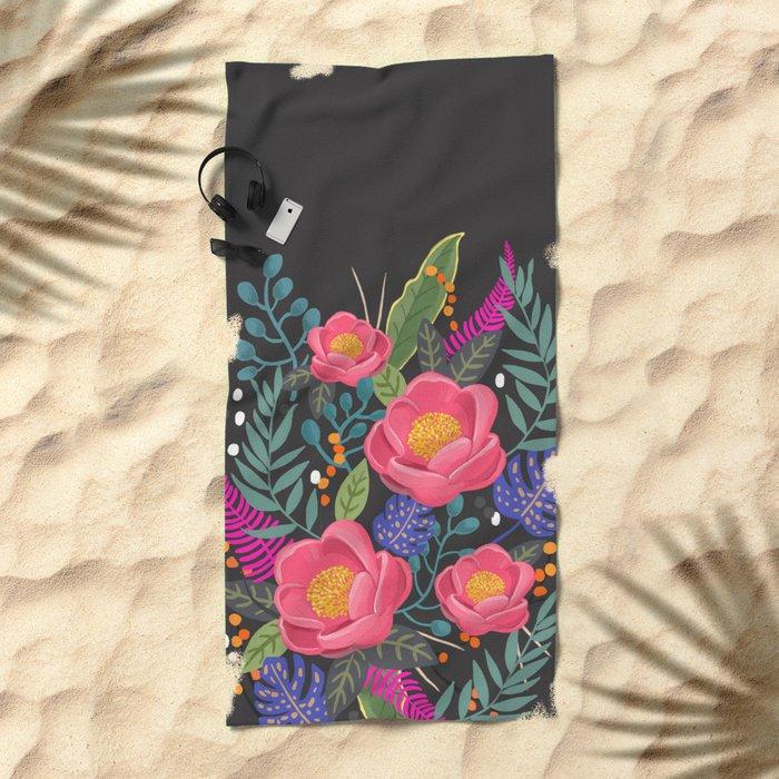 Romantic Blossom night version Beach Towel
