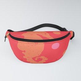 Orange Seahorse Fanny Pack