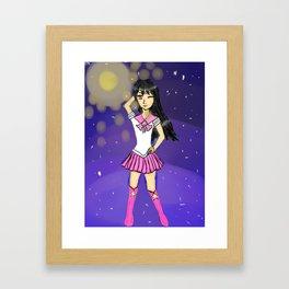 Seira as sailor scout Framed Art Print