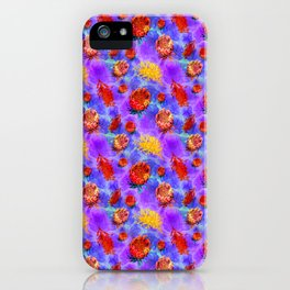 Colourful Australian Native Floral Pattern iPhone Case
