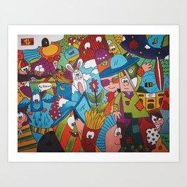Jumble Mumble Art Print