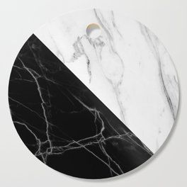 half black half white marble Cutting Board