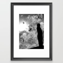 downfall Framed Art Print
