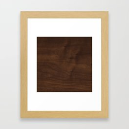 walnut textile natural wood Framed Art Print