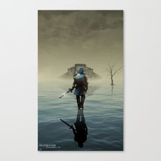 The hardest battle lies within (Blue Tunic Variant) Canvas Print