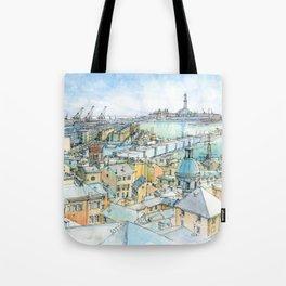 Il Porto (view of Genoa) Tote Bag