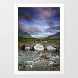 Bridge to the Valley Beyond Art Print