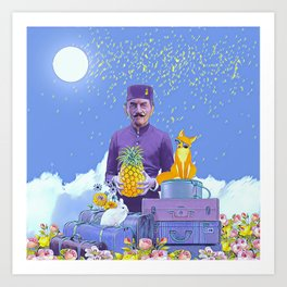 Lobby man Art Print