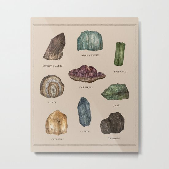 Gems and Minerals Metal Print