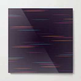Glitch of the Future Synthwave Metal Print