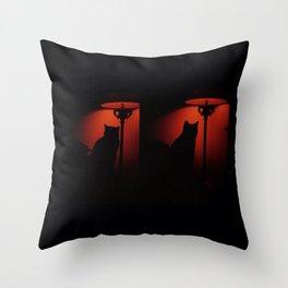 catcat Throw Pillow