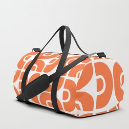Groovy Mid Century Modern Pattern Orange Duffle Bag