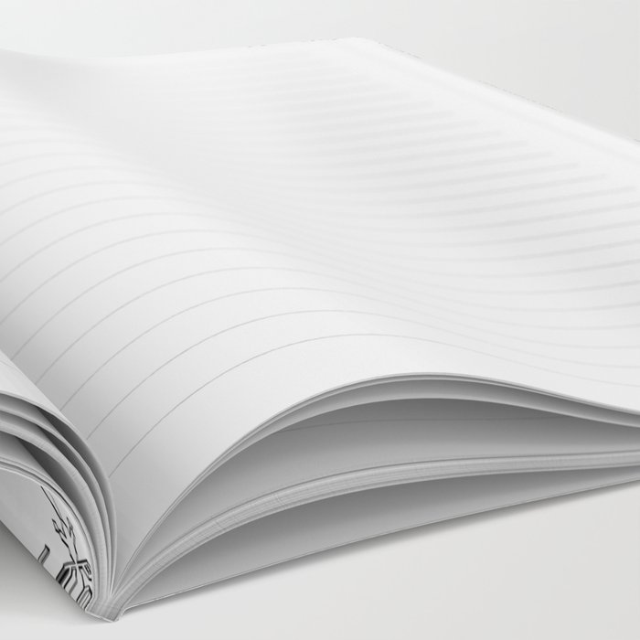 Snowflake Pattern - Black and white winter snowflake pattern artwork Notebook