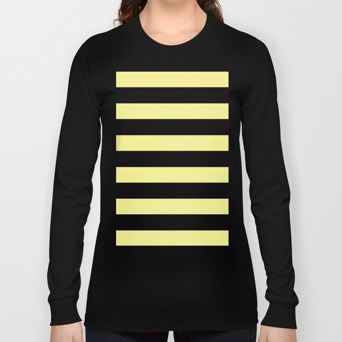 Simply Stripes in Pastel Yellow Long Sleeve T-shirt