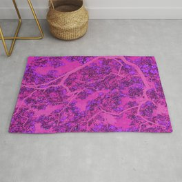 Colourful pink trees Rug