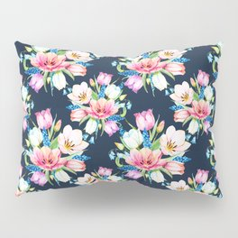tulips on dark background Pillow Sham