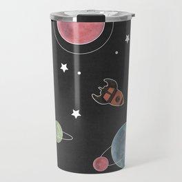 retro space pattern Travel Mug