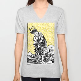 Modern Tarot Design - 8 Strength Unisex V-Neck