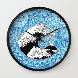 Kanagawa's wave Wall Clock