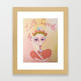 The Littlest Cupcake  Framed Art Print