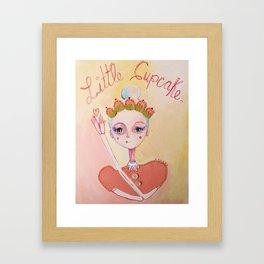 The Littlest Cupcake  Framed Art Print